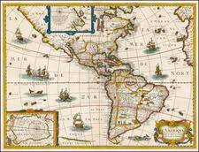 Alaska, South America and America Map By Melchior Tavernier / Petrus Bertius