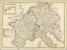 Europe, Europe and Mediterranean Map By Antonio Zatta