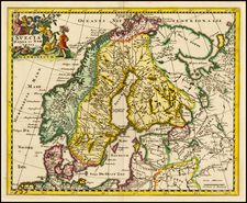 Scandinavia Map By Philipp Clüver