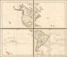 South America and America Map By W. & D. Lizars