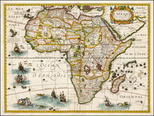 Africa and Africa Map By Melchior Tavernier / Petrus Bertius