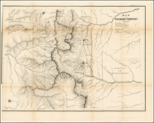 Southwest and Rocky Mountains Map By General Land Office