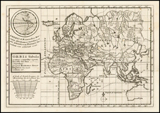 World, World, South America and America Map By Herman Moll