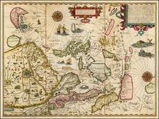 China, Japan, Korea, Southeast Asia and Philippines Map By Jan Huygen Van Linschoten