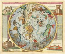 Hemisphaerium Coeli Australe in quo Fixarum loca secundum Eclipticae ductum ad anum 1730 . . .  By Johann Gabriele Doppelmayr