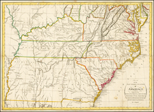 Mid-Atlantic, South, Southeast and Midwest Map By John Russell