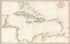 Florida, Mexico, Caribbean and Central America Map By John Andrews