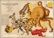 Europe, Europe and Curiosities Map By Bacon & Co. / Fred Rose