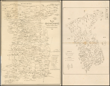 Korea Map By Phillip Franz von Siebold
