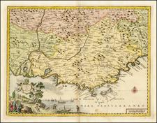 France Map By Giambattista Albrizzi