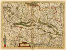 Switzerland, France and Germany Map By  Gerard Mercator