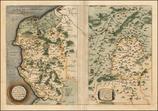 France Map By Abraham Ortelius