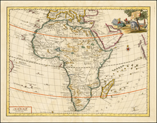 Africa and Africa Map By Giambattista Albrizzi