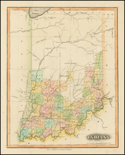 Midwest and Indiana Map By Fielding Lucas Jr.