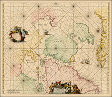 Polar Maps, Atlantic Ocean and Canada Map By Frederick De Wit