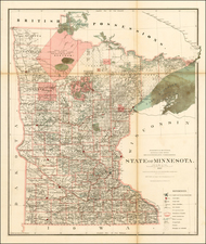 Minnesota Map By General Land Office
