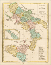 Italy, Southern Italy, Balearic Islands and Sicily Map By Robert Wilkinson