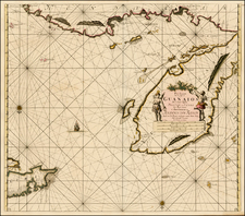 Mexico, Caribbean and Central America Map By Johannes Van Keulen