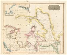 Polar Maps, Alaska and Canada Map By John Thomson
