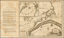 Atlantic Ocean, United States, New England, Mid-Atlantic, Florida and Southeast Map By Benjamin Franklin / American Philosophical Society