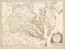 Mid-Atlantic and Southeast Map By Gilles Robert de Vaugondy
