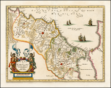 North Africa Map By Mattheus Merian