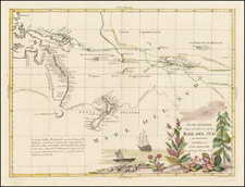 Australia & Oceania, Pacific, Australia, Oceania and New Zealand Map By Antonio Zatta
