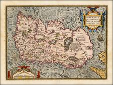 Ireland Map By Abraham Ortelius