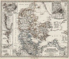 Europe and Scandinavia Map By Adolf Stieler  &  Augustus Herman Petermann
