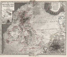 Europe and British Isles Map By Adolf Stieler  &  Augustus Herman Petermann