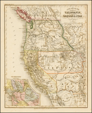 Southwest, Rocky Mountains and California Map By Joseph Meyer