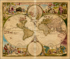 World, World and Polar Maps Map By Frederick De Wit / Pieter Mortier