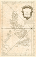 Southeast Asia and Philippines Map By Jacques Nicolas Bellin