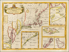 Atlantic Ocean, New England and Mid-Atlantic Map By Edward Wells