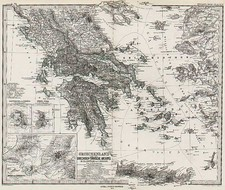 Europe, Greece, Turkey and Mediterranean Map By Adolf Stieler  &  Augustus Herman Petermann