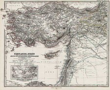 Asia, Middle East and Turkey & Asia Minor Map By Adolf Stieler  &  Augustus Herman Petermann