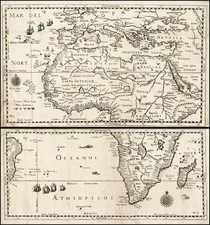 Africa Map By Levinus Hulsius