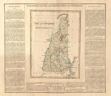 New England Map By Carl Ferdinand Weiland