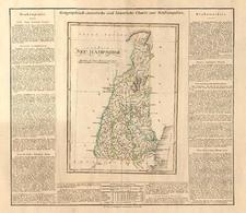 New England Map By Carl Ferdinand Weiland