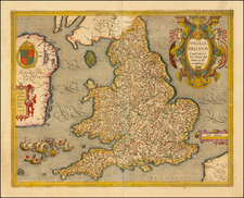 Map By Christopher Saxton / Johannes Baptista Vrients