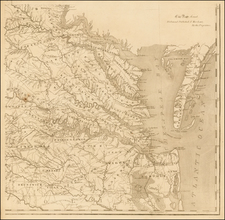 Virginia Map By Frederick Bossler / Bishop James Madison