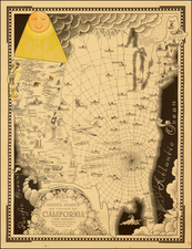 United States and California Map By Ernest Dudley Chase