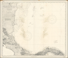 Central America Map By U.S. Coast & Geodetic Survey
