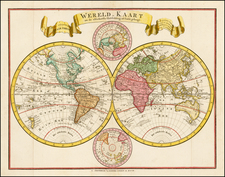 World and World Map By Mortier, Covens & Zoon