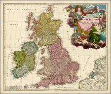 British Isles Map By Johann Baptist Homann