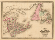 Canada Map By Alvin Jewett Johnson