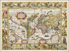 World and World Map By Jan Jansson / Pieter van den Keere