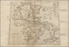 Greece Map By Claudius Ptolemy / Conrad  Swenheym