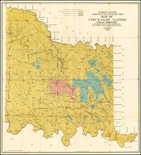 Plains and Oklahoma & Indian Territory Map By U.S. Geological Survey