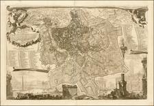 Italy Map By Giovanni Battista Nolli  &  Giovanni Battista Piranesi